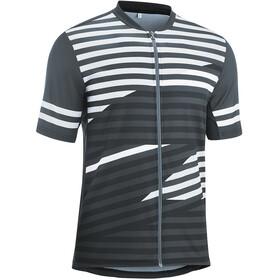 Gonso Agno T-shirt de cyclisme manches courtes avec zip Homme, graphite